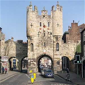 Picture of Micklegate Bar where we start our walk of York's walls.
